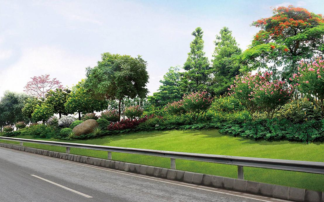 道路绿化景观_道路绿化景观设计_绿化景观效果图